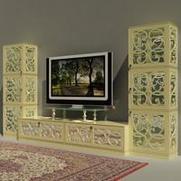 3d tv-stand tonincasa fabric