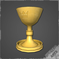 3ds max golden chalice royal