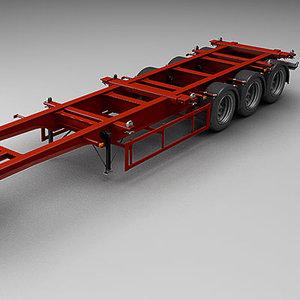 trailer semi-trailer 3d max