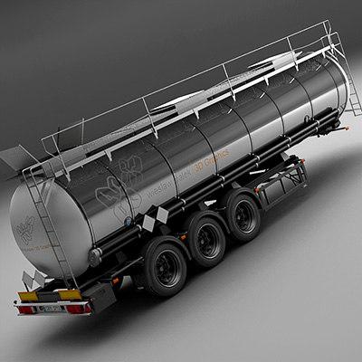 3d semi-trailer tanker
