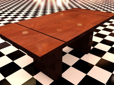3d 3ds table 2 wood materials