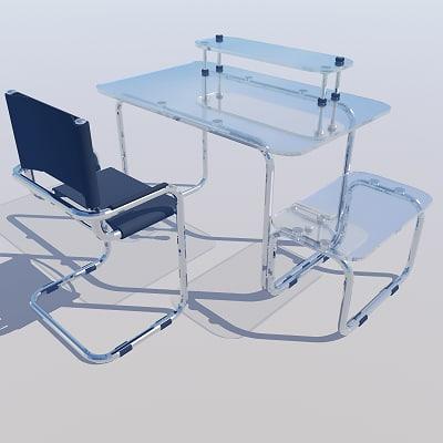 computer desk chair 3d model