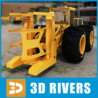Wheel feller buncher by 3DRivers