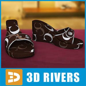 sandals shoes footwear 3d 3ds