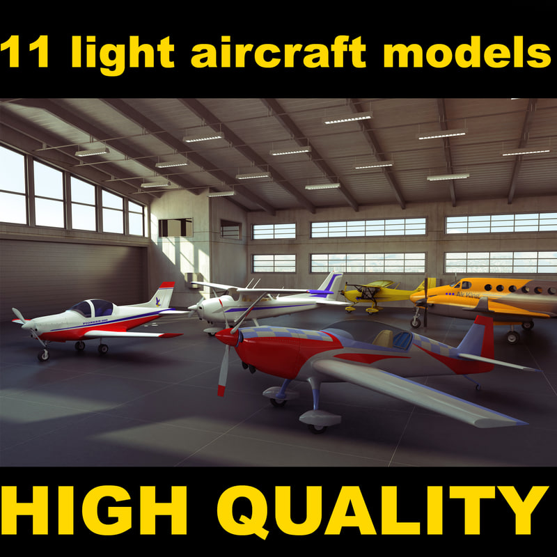 3d max light aircraft air