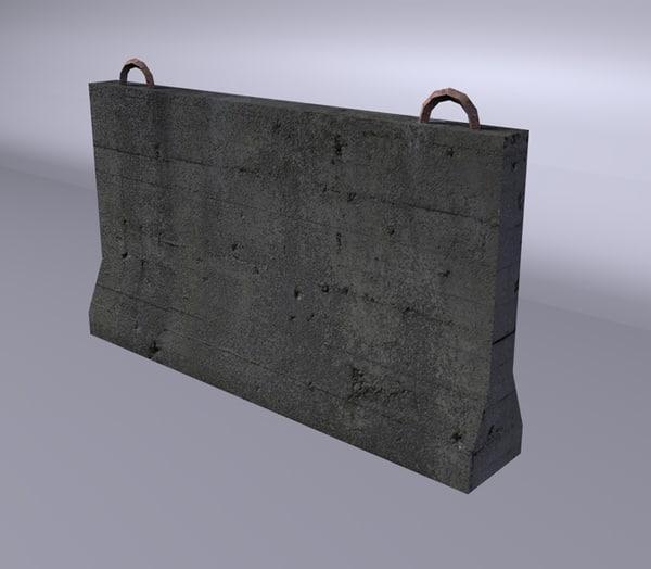 3d barreira concreto