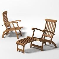 beach pool furniture 3d model