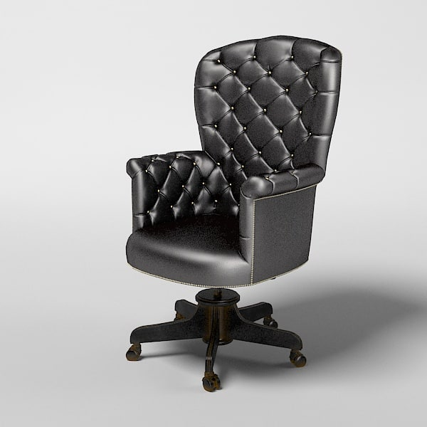 3d model of bianchini office chair