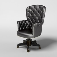 Bianchini Office chair master tufted classic contemporary