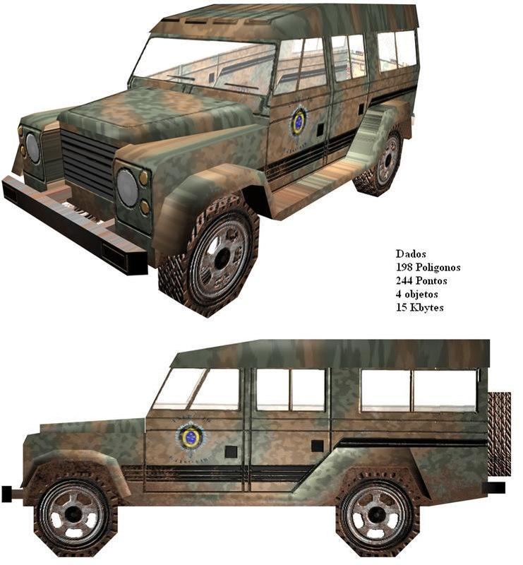 jeep transport 3d c4d