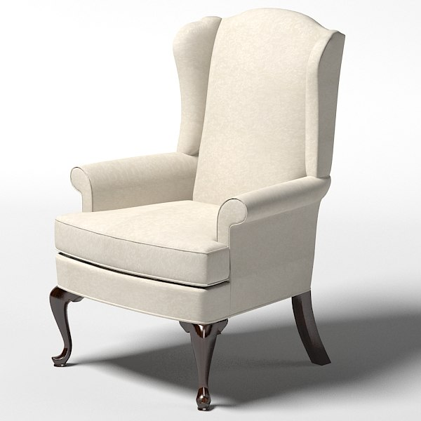 Beau Classic Classical Thomasville Bocelli Chair Wing Chair Armchair