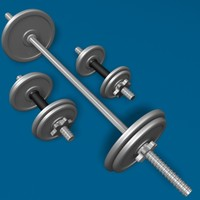 3d dumbbell exercise equipment model