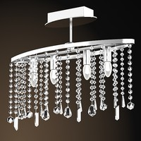 emme pi light ceileing lamp semi-flushmoint crystal