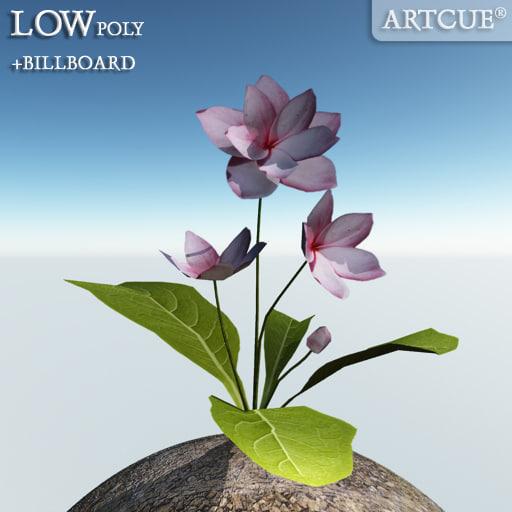 flower billboard rib 3ds