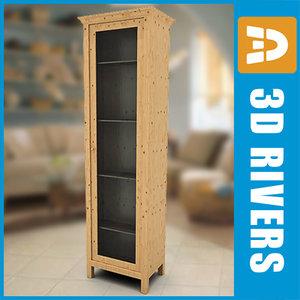 3d glass door cabinet model