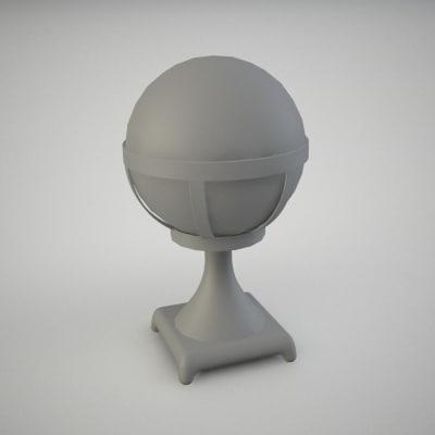 3dsmax small garden lamp