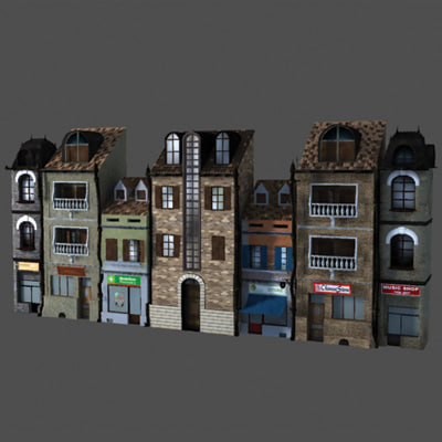 3d model houses cartoon