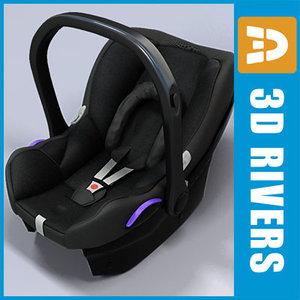 infant car seat 3d max