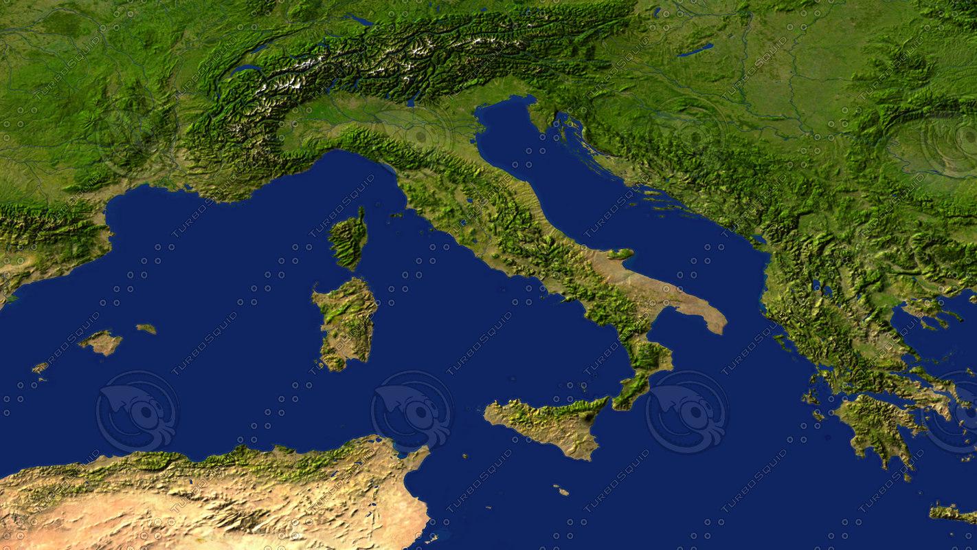 italy maps 3d model