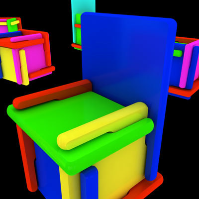 furniture kids 3d max
