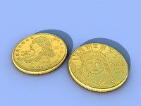 3d model of coin