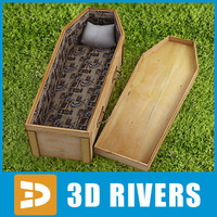 Light wood coffin by 3DRivers