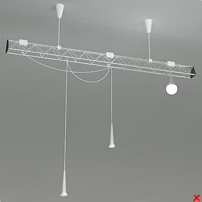 3d lamp structure model