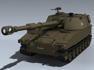 3d m109a2 swiss army gun model