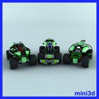 lego cars 3d max