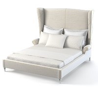 Ipe cavalli bed high tall back neo classic contemporaray