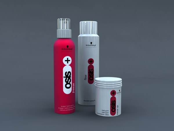 3d model of osis hair products
