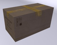 caixa papelão c4d.rar