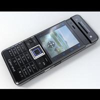 sony ericsson c902 3d model