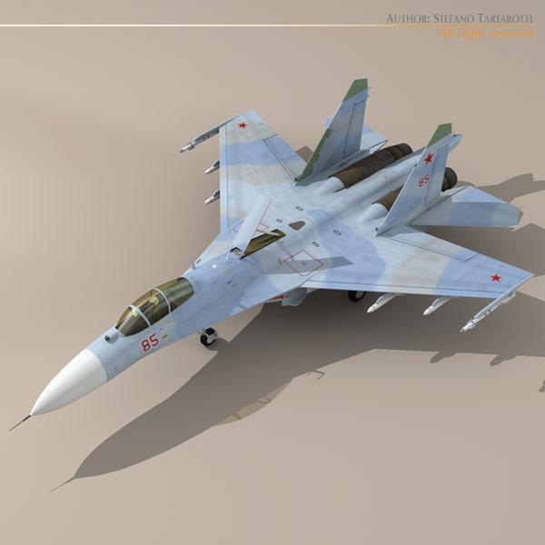 su-27 flanker jet fighter 3d dxf