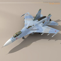 su-27 flanker jet fighter 3d dxf