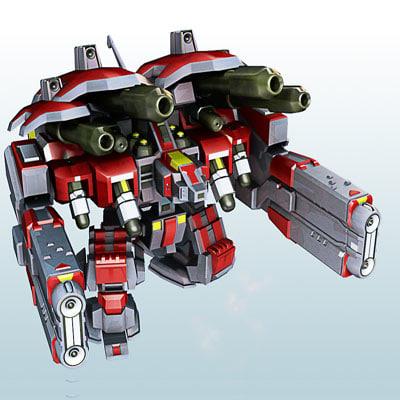 3d model starcraft2 robot