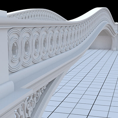 central park bow-bridge 3d model