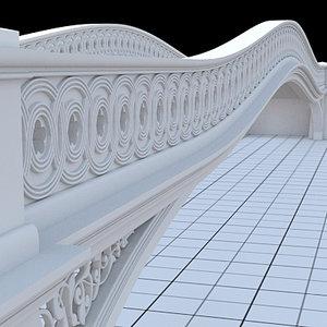 central park bow-bridge 3d model