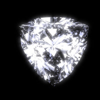 trilliant trillion diamond cut 3d model