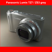 3d model panasonic dmc-tz7 grey 1