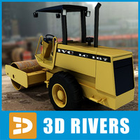 Vibratory soil compactor 01 by 3DRivers