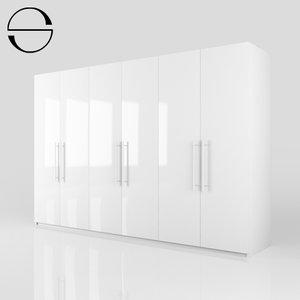 3d model of wardrobe wardrobe-1