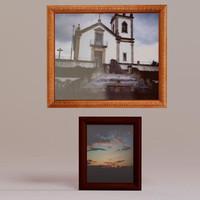 3d model wooden frames
