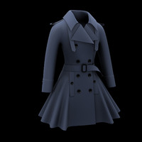 3ds max woman wool coat