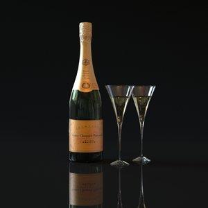 bottle champagne veuve clicquot 3ds