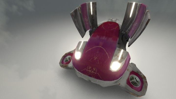 3ds max futuristic personal transport