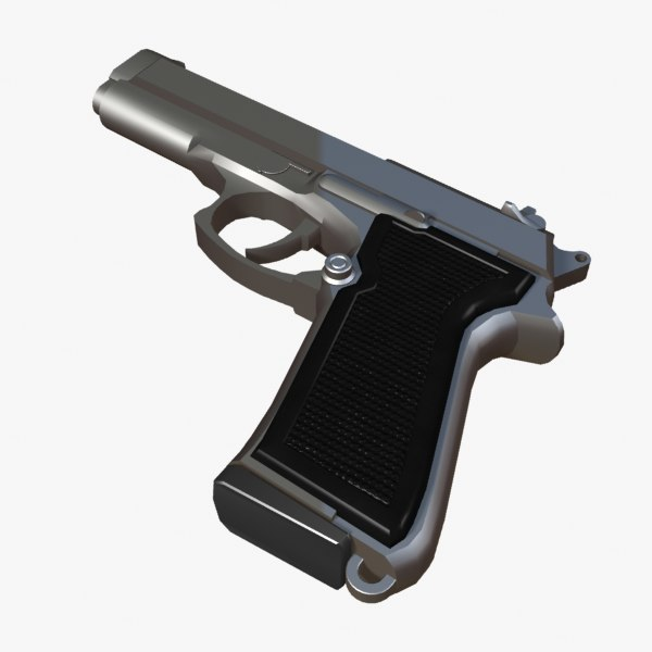 3d beretta pistol