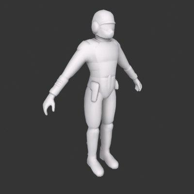 sci fi trooper 3d model