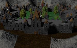 gothic castle 3d model