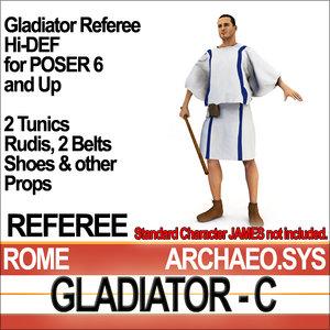 roman gladiator referee set 3ds